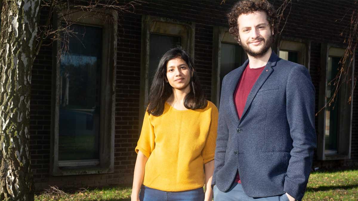 Sami Yacoubi and Jyotsna Budideti, co-founder of SpaceSense